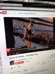 Guns N Roses 'Paradise City' [YouTube screenshot]