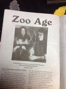 Discorder Magazine article on Zoo Age, photography by Pyra Draculea
