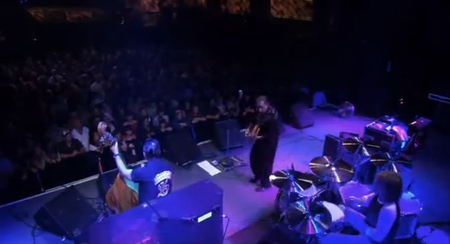 Reverend Horton Heat live [YouTube screenshot]