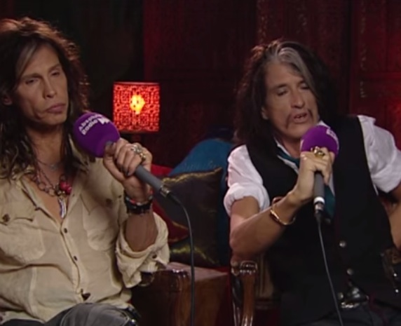 Aerosmith interview clip [YouTube screenshot]