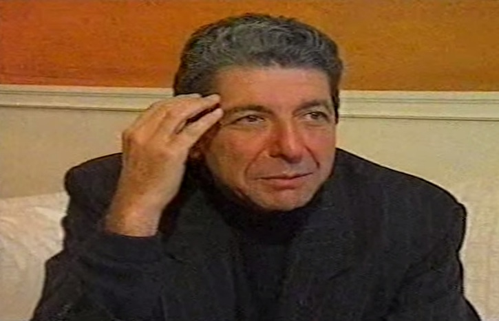 Leonard Cohen interview [YouTube screenshot]