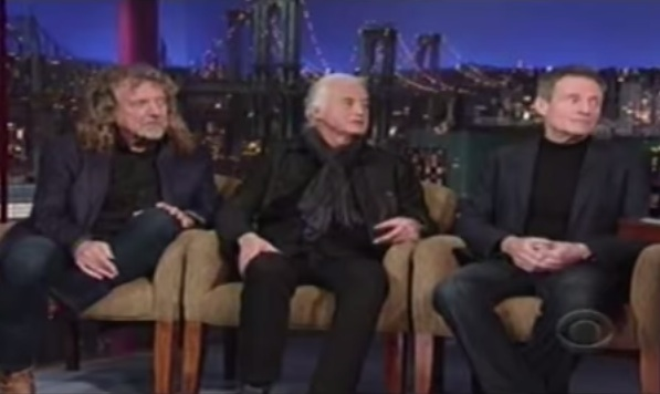 Led Zeppelin interview on David Letterman [YouTube screenshot]